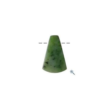 Cabochon Trapez Nephrit (Indonesien) gebohrt, ca. 4,5cm