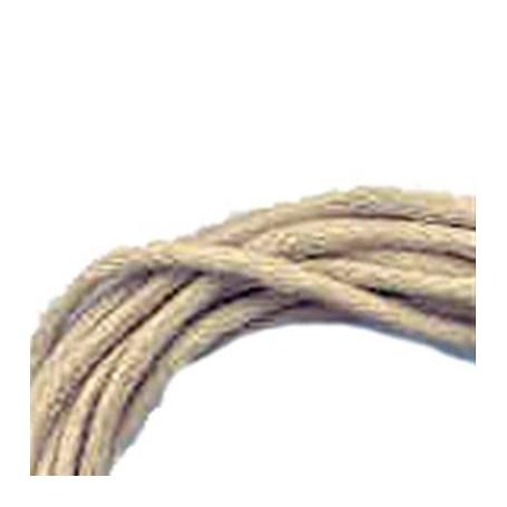 Baumwollband mit Silber-Verschluss, beige, 1,5mm x 45cm