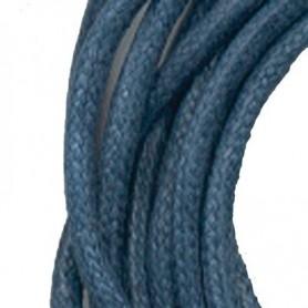 Baumwollband mit Silber-Verschluss, dunkelblau, 1,5mm x 45cm