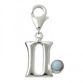 Charm -Zwilling- mit Chalcedon, 27mm
