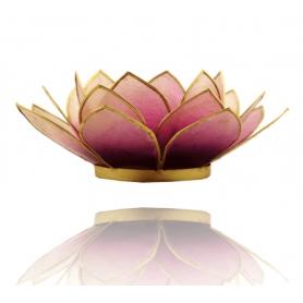 Lotus Licht mit Goldrand - violett & hell violett