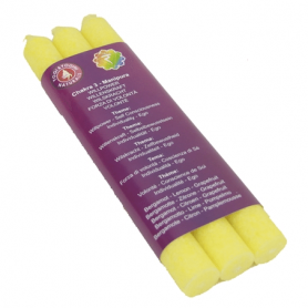 Duftkerze - 3. Chakra Manipura (gelb) - dünn - 3 x