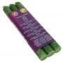 Duftkerze - 4. Chakra Anahata (grün) - dünn - 3 x