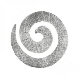 Anhänger Spirale, Silber matt, 20mm