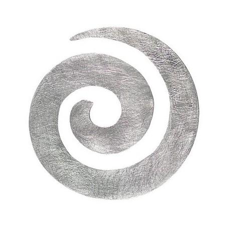 Anhänger Spirale, Silber matt, 40mm