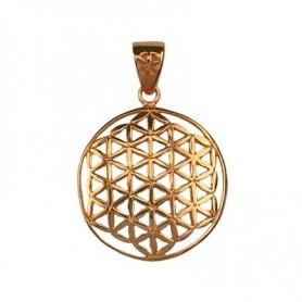Design-Anhänger -Blume des Lebens-, Silber rosévergoldet, 25mm