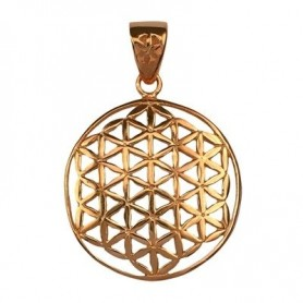 Design-Anhänger -Blume des Lebens-, Silber rosévergoldet, 32mm