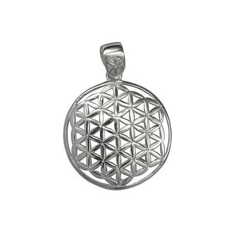 Design-Anhänger -Blume des Lebens- aus 925 Silber, Größe ca. 25mm