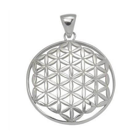 Design-Anhänger -Blume des Lebens-, Silber, 32mm