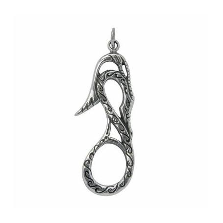 Symbol-Anhänger Keltische Schlange Silber, ca. 4,4cm