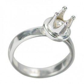 Design-Ring -Krone-, Silber