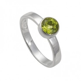 Design-Ring mit Peridot facet