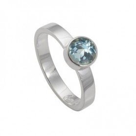 Design-Ring mit Topas blau facet