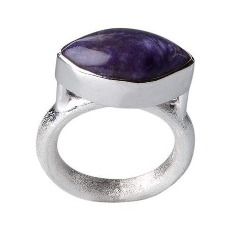 Ring Navette Charoit, mattiert