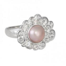 Ring Perle pink, Topas