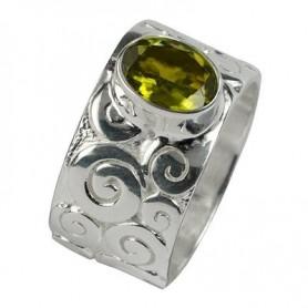 Ring Curly Turmalin grün