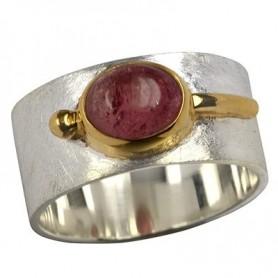 Ring Turmalin rot