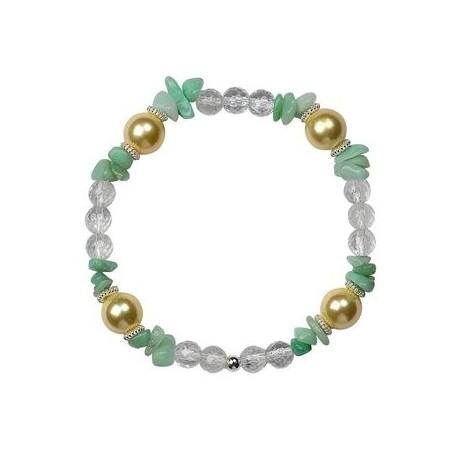 Armband -Grün-Gelb-, 20cm