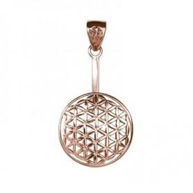 Donuthalter -Blume des Lebens- Silber rosévergoldet, für 40mm Donut