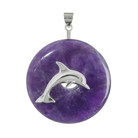 Donuthalter -Delfin- Silber, für 30 - 40mm Donut