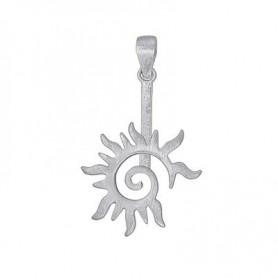 Donuthalter -Flammen-Spirale- Silber matt, für 30mm-Donut