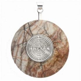 Donuthalter -Labyrinth- Silber, für 30 - 40mm Donut