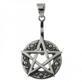 Donuthalter -Pentagram- Silber, für 30 - 40mm Donut