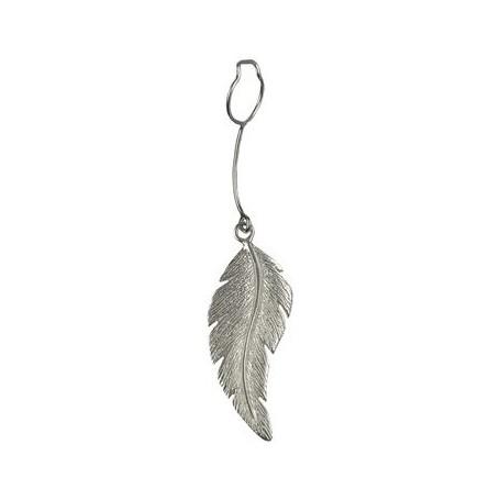 Einhänger -Feder- für Donuthalter, Silber