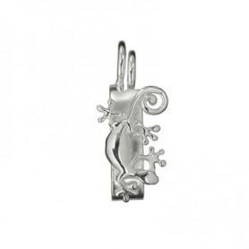 Scharnier-Clip Gecko Silber, für 40mm Donut