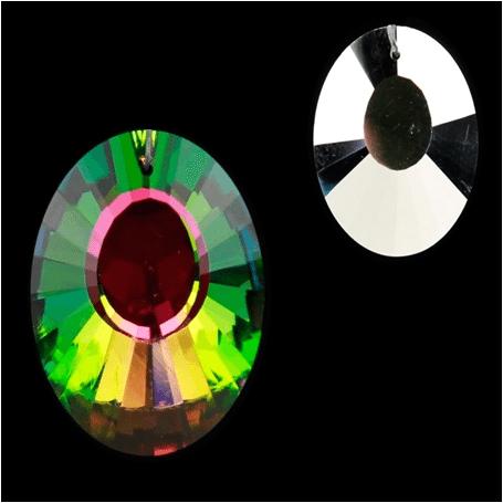 Regenbogen-Kristalle Panorama multicolor