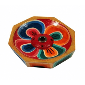 Räucherstäbchenhalter Lotus Holz klein