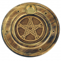 Räucherstäbchen-/Weihrauchkegelhalter Pentagramm