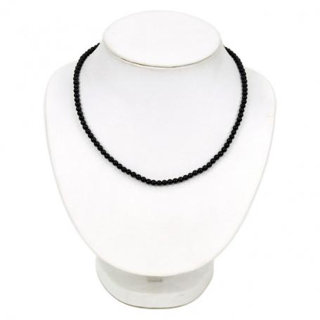 Halskette schwarzer Turmalin - 925 Siber
