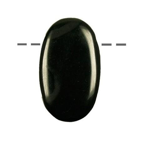 Linsenstein Basalt gebohrt