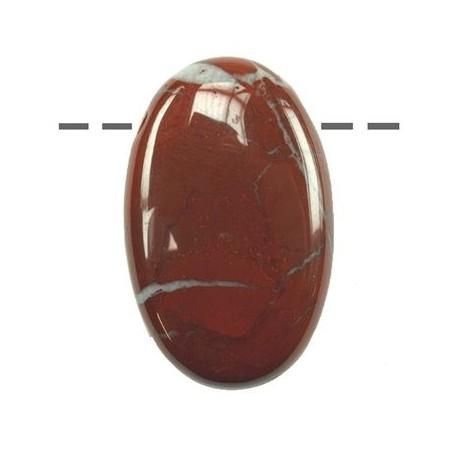 Linsenstein Jaspis (rot) gebohrt