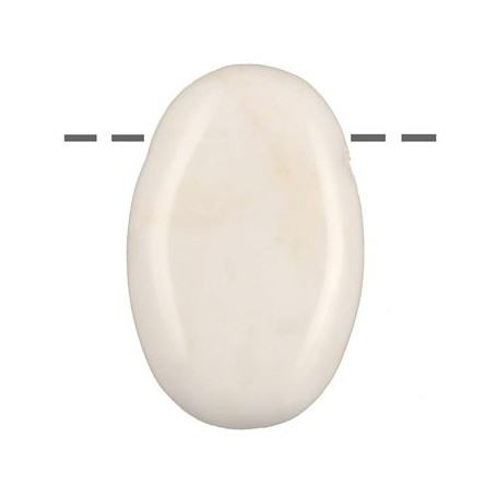 Linsenstein Marmor (weiß) gebohrt