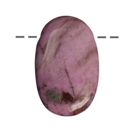 Linsenstein Rhodonit gebohrt
