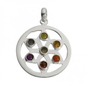 Anhänger Chakra-Rad, 4,0cm, Silber