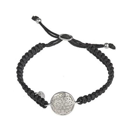 Armband Makramee, Blume des Lebens (Silber)