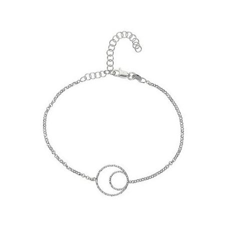 Armband -Glücksband Kreise-, 16 - 21cm