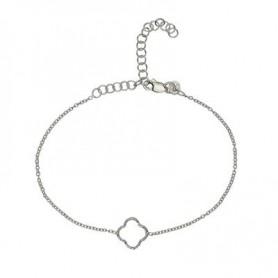 Armband -Glücksband Kleeblatt-, 16 - 21cm