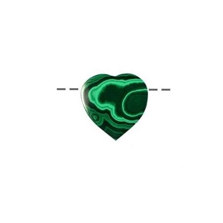 Herz Malachit (stab.) gebohrt, 3cm