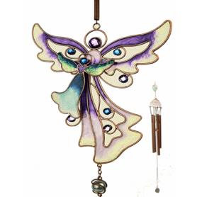 Windspiel Engel Lila