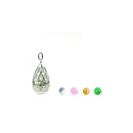 Gabriele Iazzetta - Großes Wunschkugel Amulett Silber
