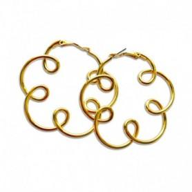 Gabriele Iazzetta - Große Energie-Reiki-Spiralen-Ohrringe - GOLD