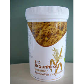 Keimkraft.at - BIO Braunhirse gekeimt fermentiert vermahlen