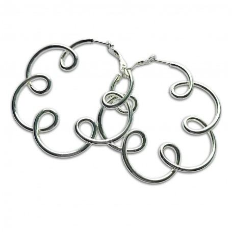 Gabriele Iazzetta - Große Energie-Reiki-Spiralen-Ohrringe - Silber