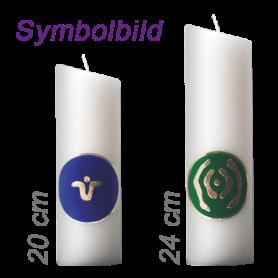 """Ingrid Auer - Kerze 24 cm mit Symbol G04 """"Engel für Reinheit und Klarheit"""""""