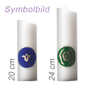 """Ingrid Auer - Kerze 20 cm mit Symbol G02 """"Engel für Liebe und Selbstliebe"""""""