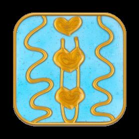 "Ingrid Auer - Symbol ""Rückverbindung mit Avalon"" hellblau"